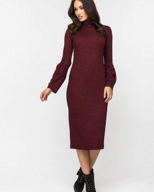 Платье бордовый вязаное Gloss