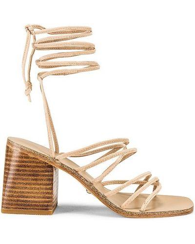 Sandały skórzane na obcasie Raye