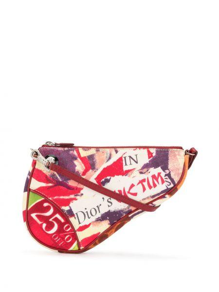 Srebro z paskiem skórzany torba kosmetyczna Christian Dior