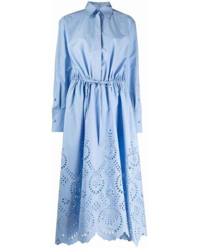 Хлопковое платье миди с вышивкой классическое Valentino