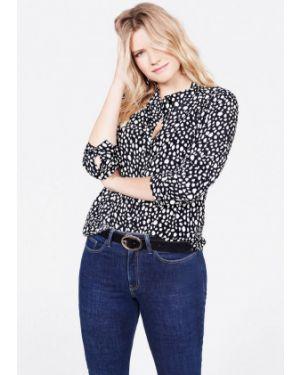 Блузка с длинным рукавом черная Violeta By Mango