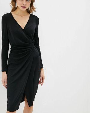 Однобортное черное платье Love Republic