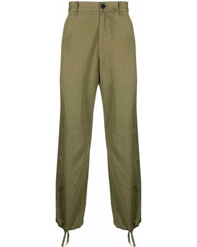 Zielone spodnie bawełniane z paskiem Stone Island Shadow Project