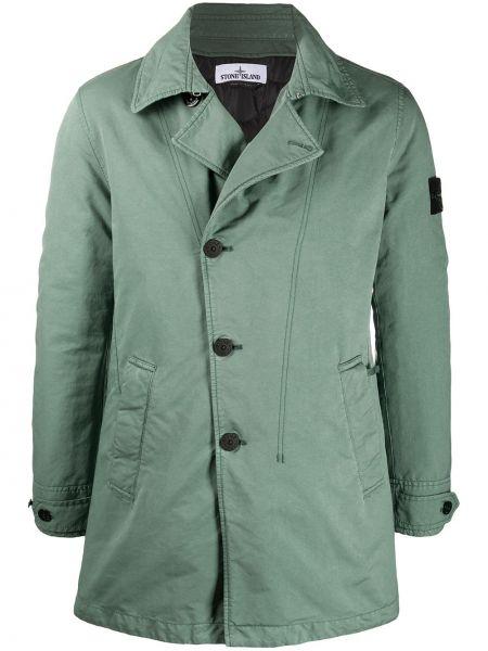 Wyposażone z rękawami zielony długa kurtka z kieszeniami Stone Island