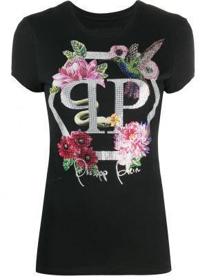 Koszula z krótkim rękawem prosto czarny Philipp Plein
