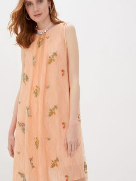 Оранжевое платье Alexander Bogdanov