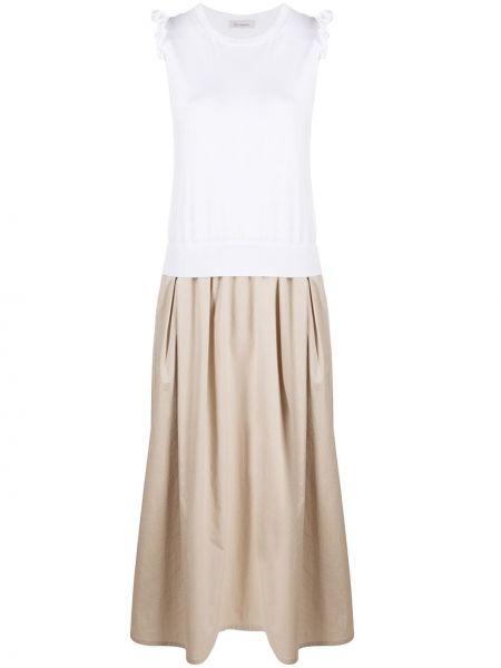 Платье миди в рубчик с рукавами Peserico