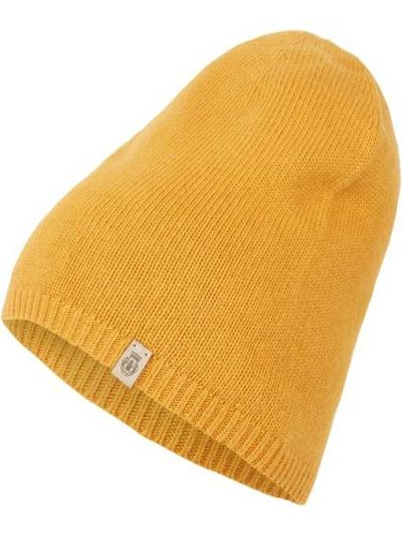 Prążkowana żółta czapka wełniana Roeckl