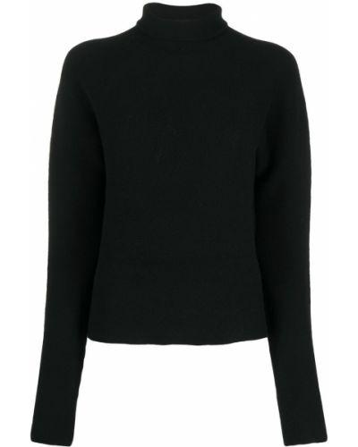 Шерстяной черный джемпер с круглым вырезом с длинными рукавами Christian Wijnants