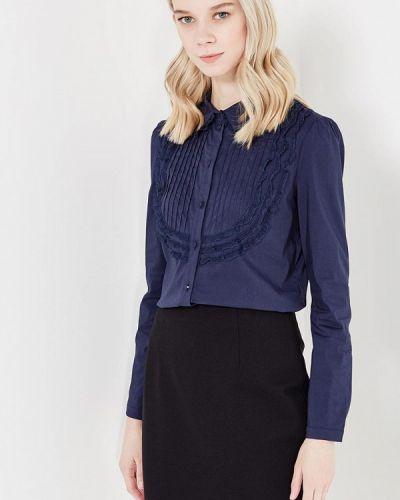 Блузка с длинным рукавом осенняя синяя Lusio