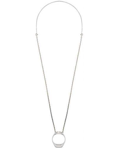 Ожерелье серебряный Maison Margiela