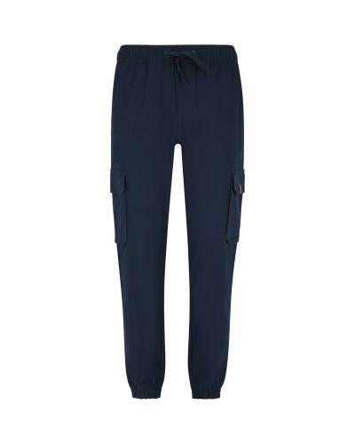 Хлопковые синие брюки карго свободного кроя Protest