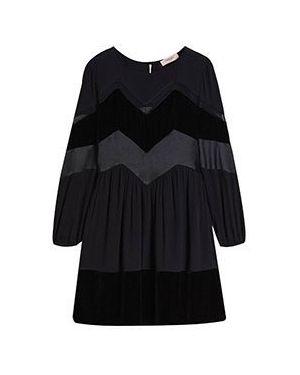 Повседневное платье из вискозы черное Twinset