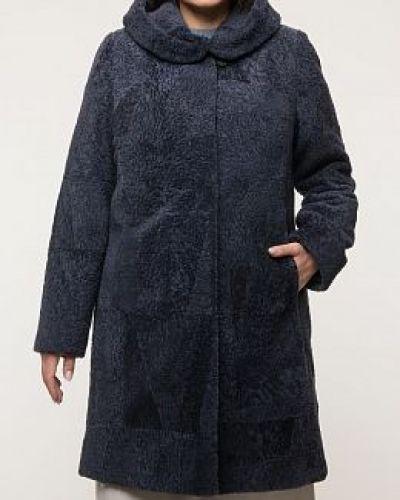 Пальто из овчины - синее Anna Romanova Furs