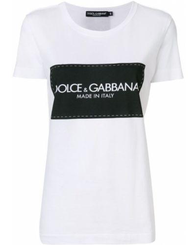 Футболка свободная с логотипом Dolce & Gabbana