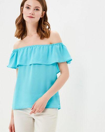 Блузка бирюзовая весенний Modis