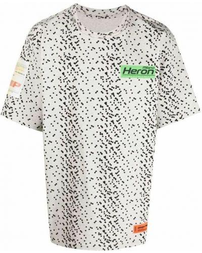 T-shirt - szara Heron Preston