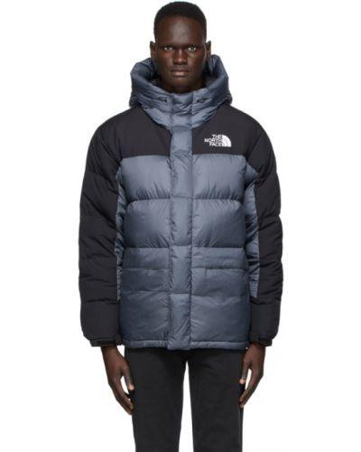 Пуховая белая стеганая куртка с манжетами с вышивкой The North Face
