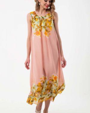 Летнее платье розовое платье-сарафан Wisell