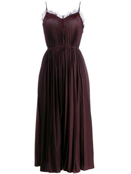 Платье миди платье-комбинация на бретелях Vince.