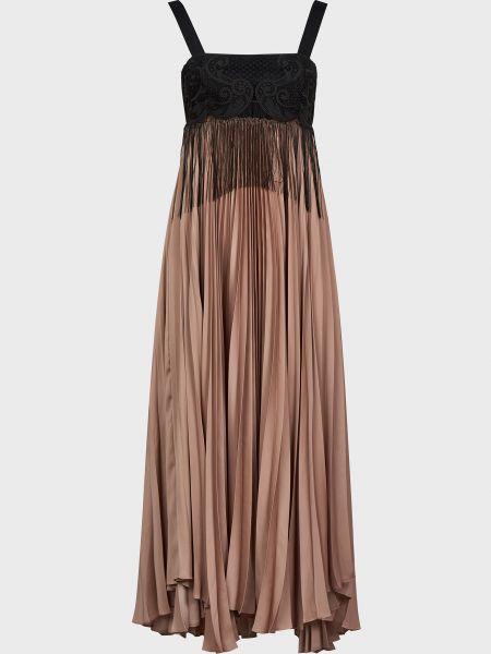 Коричневое платье Pinko