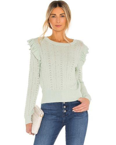 Зеленый свитер винтажный из вискозы Line & Dot