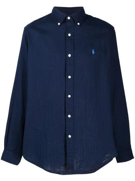Koszula z długim rękawem klasyczna niebieski Ralph Lauren