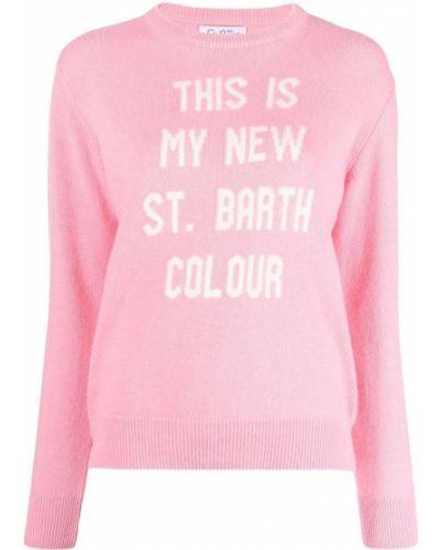 Джемпер с вышивкой - розовый Mc2 Saint Barth
