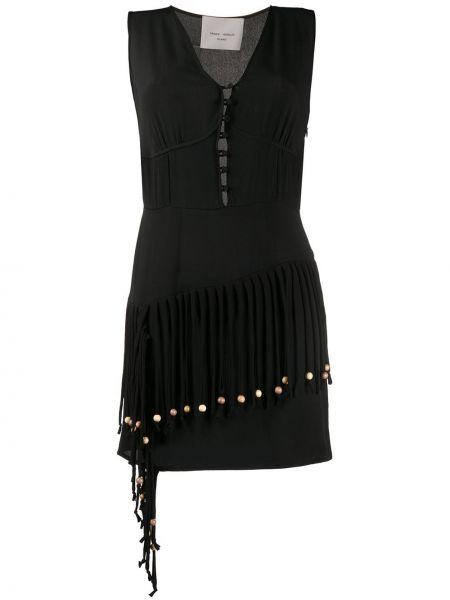 Облегающее платье мини - черное Frankie Morello