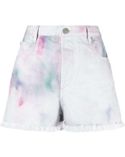 Белые с завышенной талией джинсовые шорты с карманами Isabel Marant étoile