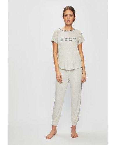 Пижама с брюками с карманами серая Dkny
