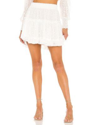 Белая юбка на резинке металлическая с жемчугом Misa Los Angeles