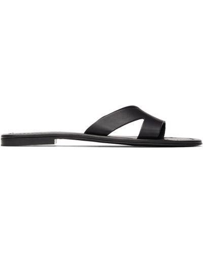 Czarne sandały skorzane Kenzo