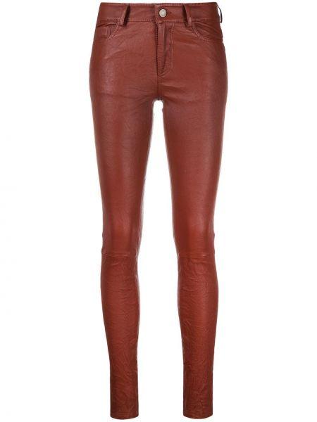 Красные облегающие кожаные брюки Zadig&voltaire