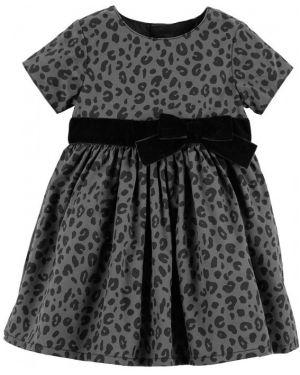 Платье с рукавами бархатное серое Carters
