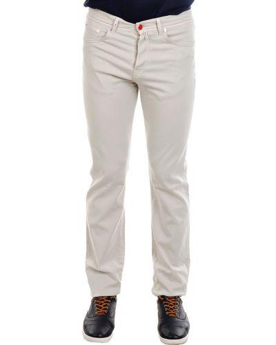 Хлопковые брюки - бежевые Kiton