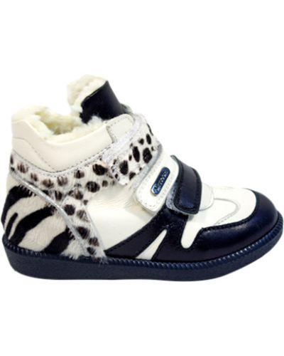 Ботинки белые черные Missouri