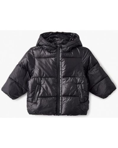 Черная куртка теплая United Colors Of Benetton