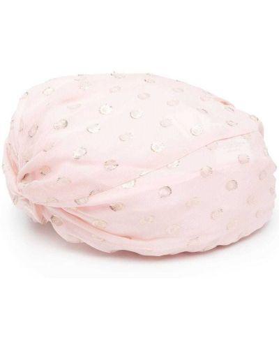 Różowy kapelusz z jedwabiu Pinko