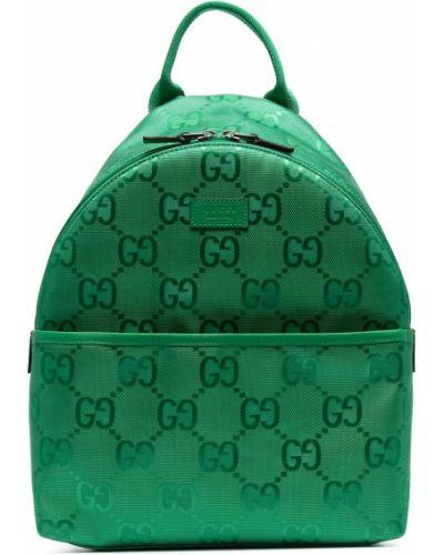 Zielony plecak z nylonu Gucci Kids