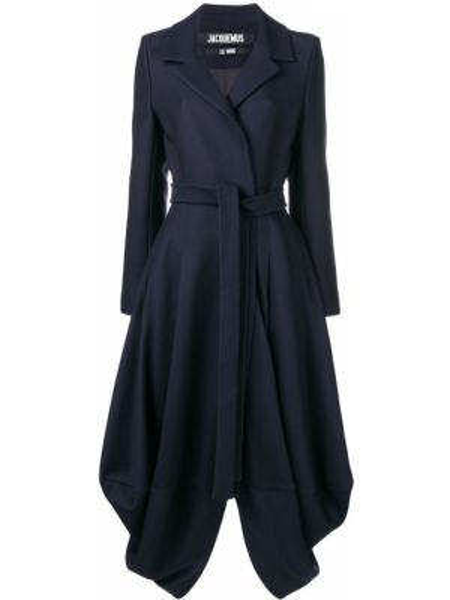 Długi płaszcz wełniany - niebieski Jacquemus