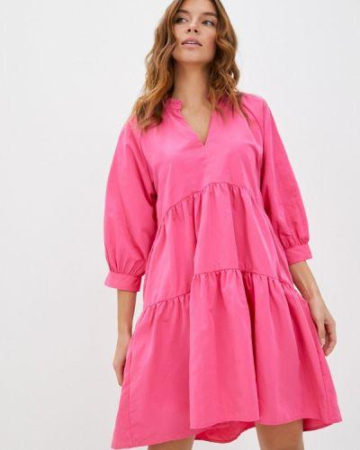 Прямое розовое платье Sela