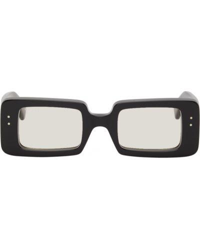 Черные солнцезащитные очки прямоугольные прозрачные Gucci