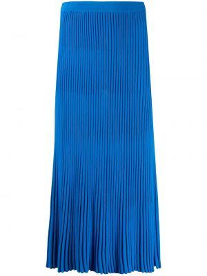 Синяя плиссированная юбка миди из вискозы Christian Wijnants