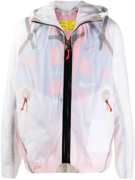 С рукавами белая куртка с капюшоном на молнии прозрачная Nike