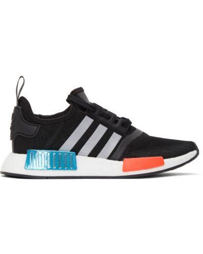 Koronkowa czarny sneakersy na sznurowadłach okrągły Adidas Originals