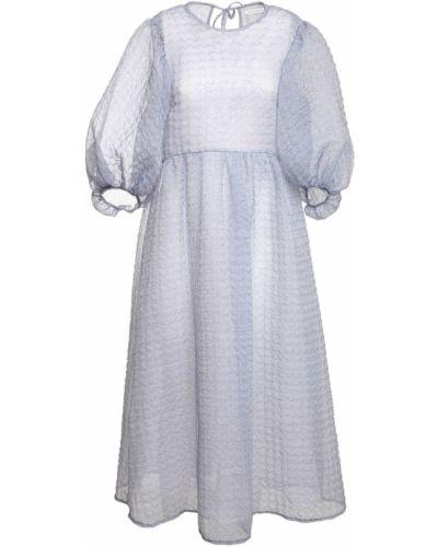 Платье миди с открытой спиной из органзы Cecilie Bahnsen