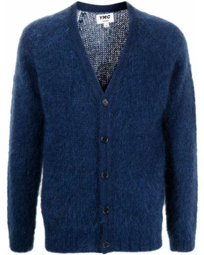 Niebieski sweter z dekoltem w serek Ymc