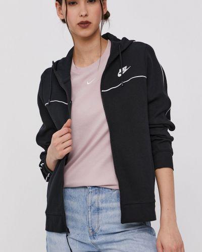 Czarna bluza z kapturem bawełniana Nike Sportswear