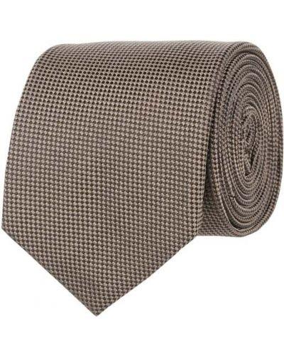 Klasyczny brązowy krawat z jedwabiu Blick